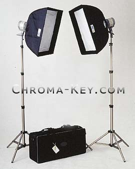 Chroma Key Light Kit Two Quartz Lights complete with Softboxes 8 foot Stands u0026 case  sc 1 st  Chroma-Key.com & Chroma Key Light Kit Two Quartz Lights complete with Softboxes 8 ... azcodes.com